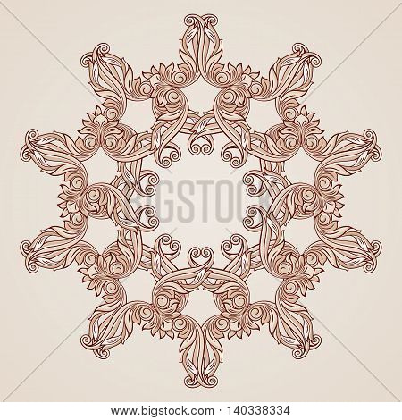 Flowery pattern in pastel rose pink shades