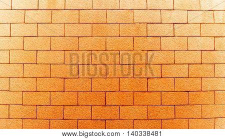 Square orange brick wall background,  orange wall
