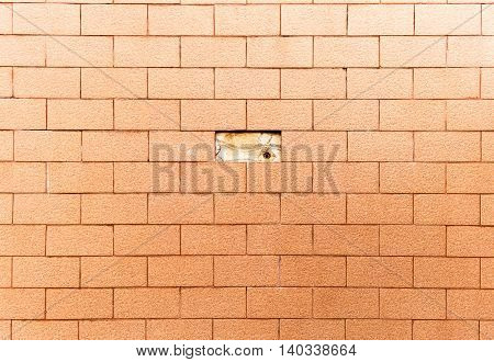 Orange brick wall background, orange wall, Texture of brick wall. The background of bricks