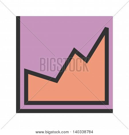 Report, bar, company icon vector image. Can also be used for infographics. Suitable for use on web apps, mobile apps and print media.