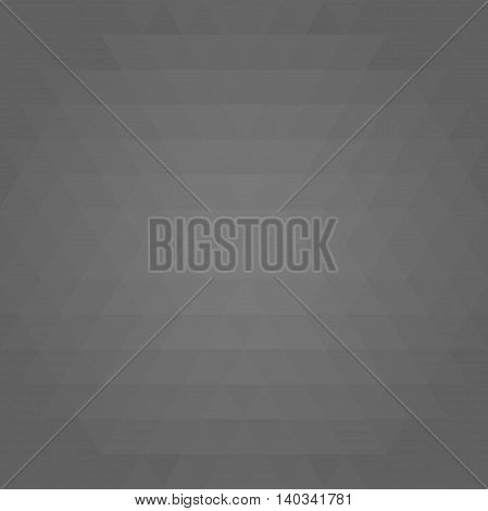 Geometric abstract vector background with dark gray triangles. Pattern with flow effect