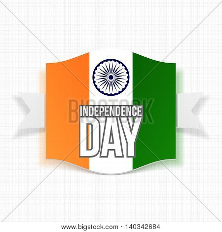 India Independence Day greeting Label. Vector illustration