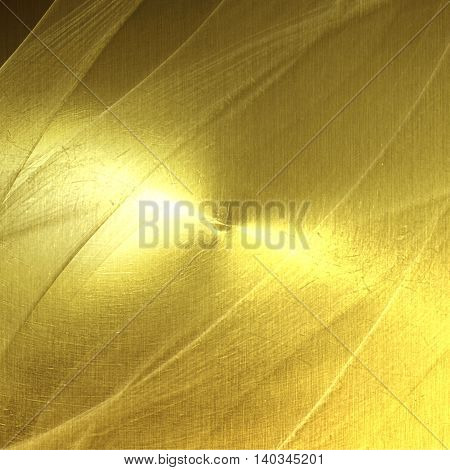 shiny gold carbon wall. gold background and texture. 3d illustration.