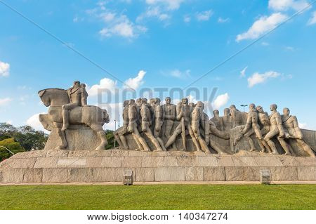 The Bandeiras Monument In Ibirapuera Park, Sao Paulo