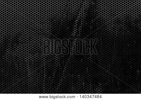 black rust metallic mesh background and texture.