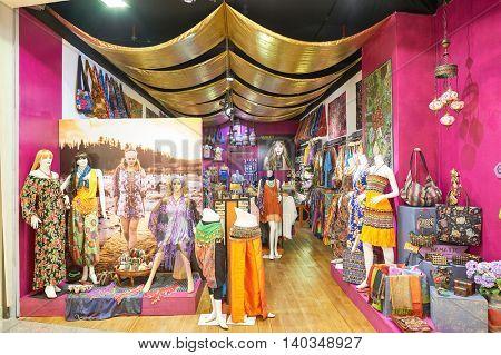 PATTAYA, THAILAND - FEBRUARY 22, 2016: inside of Central Festival Pattaya. Central Festival Pattaya Beach is a shopping mall in Pattaya, Thailand.
