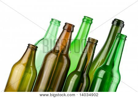 empty color bottles