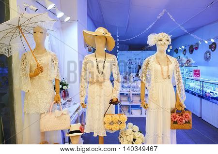 PATTAYA, THAILAND - FEBRUARY 22, 2016: mannequins in a store at Central Festival Pattaya. Central Festival Pattaya Beach is a shopping mall in Pattaya, Thailand.