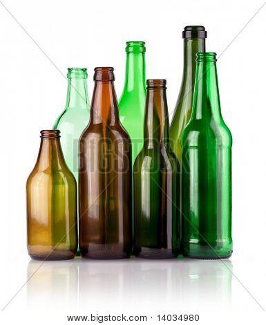 garrafas vazias de cor
