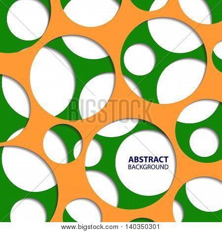 Abstract circle background in Indian flag colors. Vector illustration.
