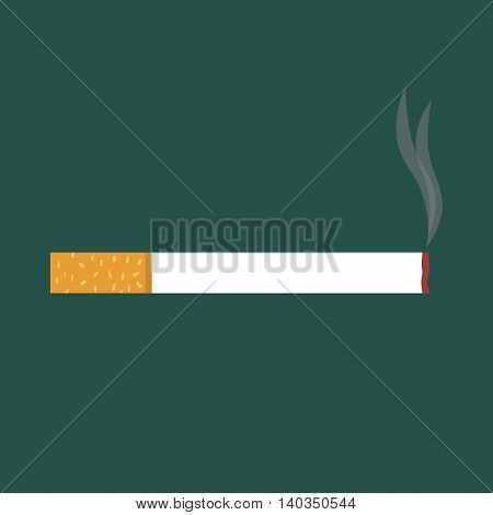 Flat icon cigarette. Smoking area. Vector illustration.