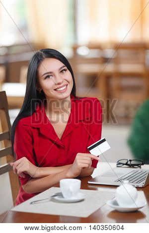 Business Woman Shopping Online