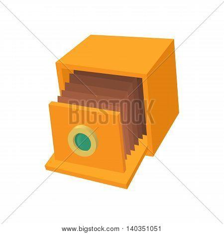 Retro camera icon in cartoon style isolated on white background. Photography symbol