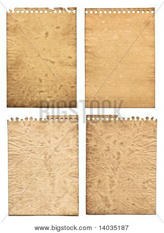 old paper texture set