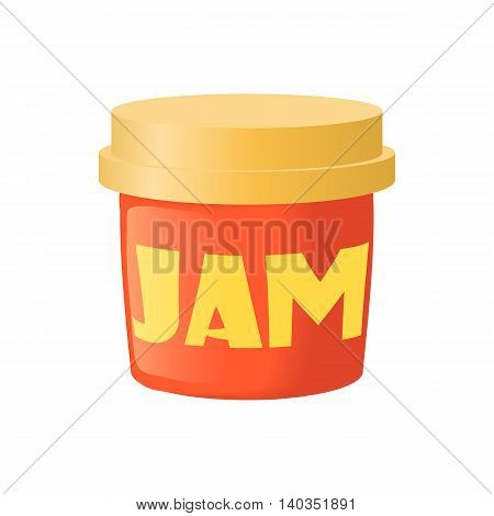 Bank of jam icon in cartoon style isolated on white background. Food symbol