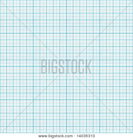 nahtlose blau Millimeterpapier Muster