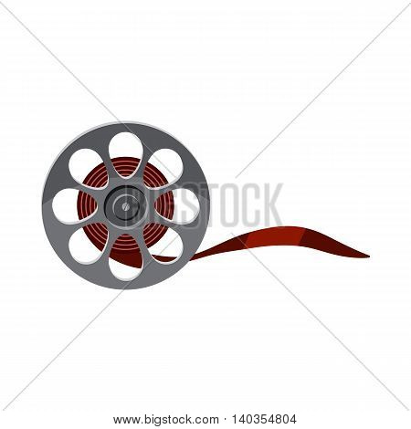 Film icon in cartoon style isolated on white background. Cinema symbol