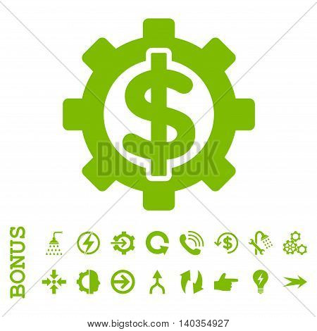 Financial Options vector icon. Image style is a flat iconic symbol, eco green color, white background.