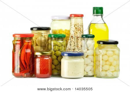 Pickles isolated on white background