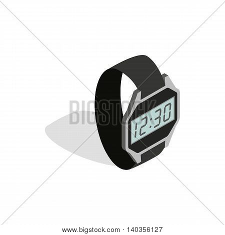 Smart watch icon in isometric 3d style isolated on white background