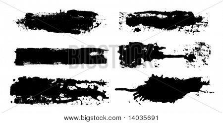 jogo de escova de tinta vector
