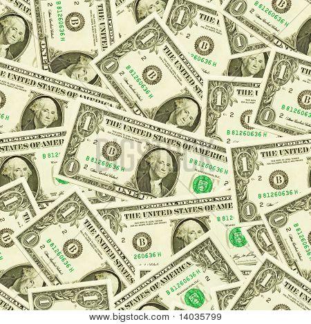 Seamless dollars background