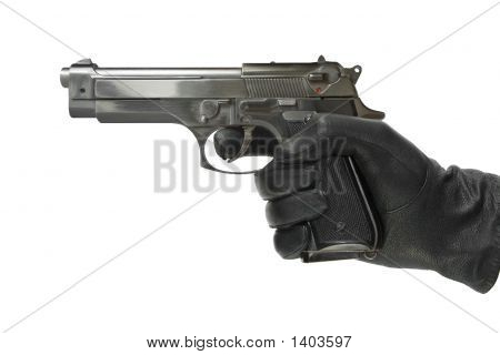 Hand In Glove With Pistol