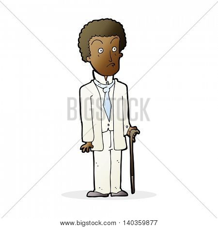 cartoon unhappy gentleman