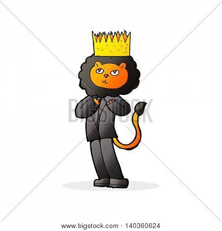 cartoon king of the beasts