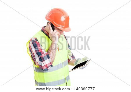 Multitasking Concept With Constructor With Phone And Tablet