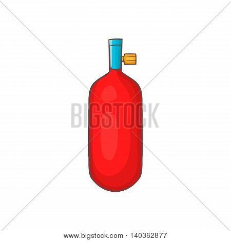 Gas hand grenade icon in cartoon style on a white background