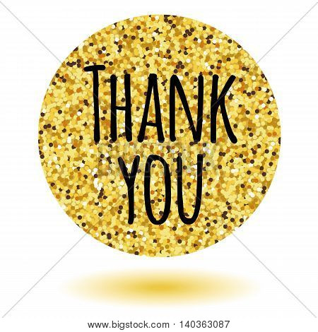 Thank you card. Template for your design. Vector illustration