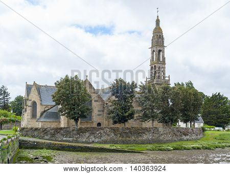 church located in a commune in the Finistere department named Rumengol at Le Faou in Brittany