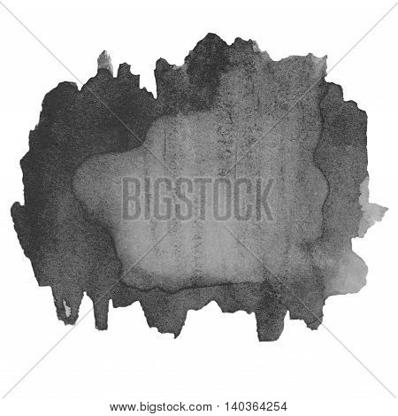 Abstract Black hand drawn watercolor background. Abstract ink spot textured background. High resolution