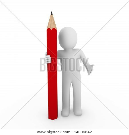 3D Human Red Pencil