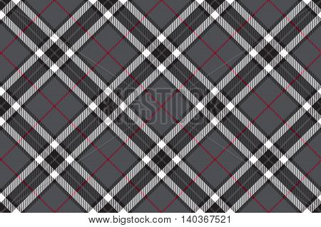 Gray fabric textire seamless pattern. Vector illustration.