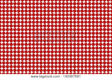 Red white abstract seamless fabric pattern. Vector illustration. EPS10.