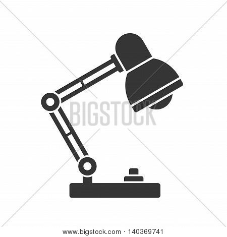 Desk Lamp Light Icon on White Background. Vector illustration