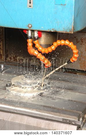 old fasion machine working on work piece