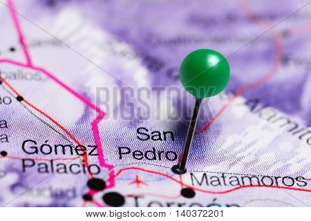 San Pedro pinned on a map of Mexico
