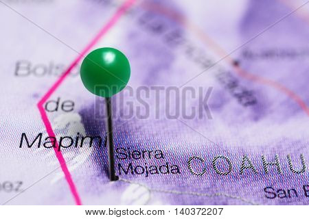 Sierra Mojada pinned on a map of Mexico