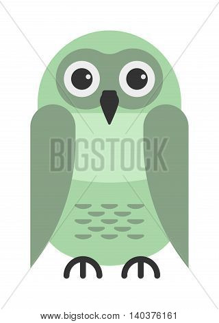 Cute vector collection of bright cartoon owls. Animal character cartoon owl comic funny collection. Doodle cheerful birds behavior cartoon owl