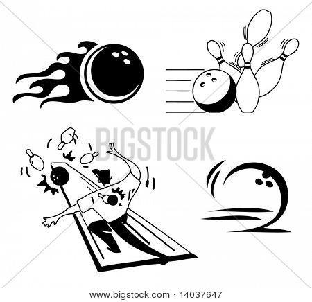 vector bowling set