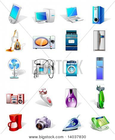 electronics vector icons