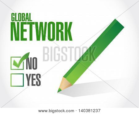 No Global Network Approval Sign Concept