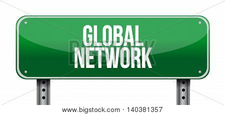 Global Network Horizontal Sign Concept