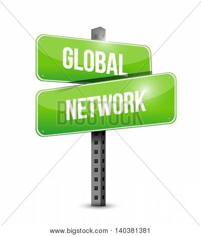 Global Network Street Sign Concept