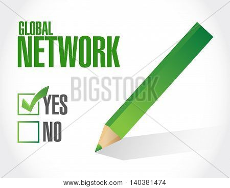 global network approval sign concept illustration design graphic
