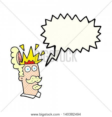 freehand drawn comic book speech bubble cartoon man with exploding head