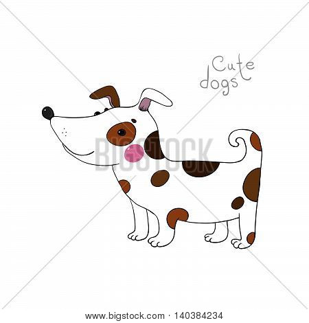 Hand drawing isolated objects on white background. Vector illustration.